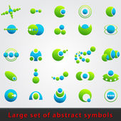 Large set of abstract symbols — Stock Vector