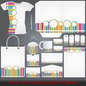 Ayrıntılı renkli kurumsal şablonlar — Stok Vektör