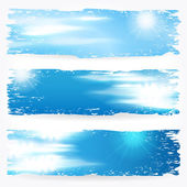 Beautiful summer sky banners — Vettoriale Stock