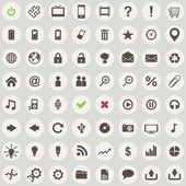 Large set of retro style web icons — Vector de stock