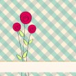 Beautiful floral romantic background — Vettoriali Stock
