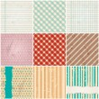 Vettoriale Stock : Seamless retro pattern set