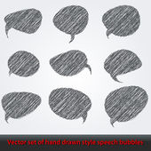Set of hand drawn style comic speech bubbles — Stock Vector