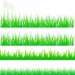 Stock Vector: Grass set