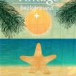 Retro beach illustration — Stock Vector