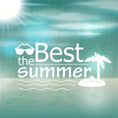 Retro summer illustration — Stock Vector