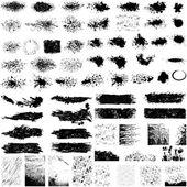 グランジ テクスチャの大規模なセット — ストックベクタ