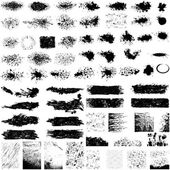 Large set of grunge textures — Vector de stock