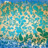 Vintage floral background — Vetor de Stock