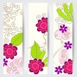 Cute floral web banners — Stock Vector