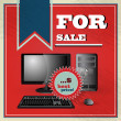 Elegant vintage best price offer for Pc set — Stockvectorbeeld
