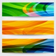 Set of three abstract colorful web banners — Stock Vector