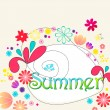 Cute summer illustration — Stock Vector