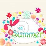 Cute summer illustration — Stock Vector
