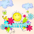 Cute summer illustration — Stock Vector #28964659