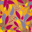 Seamless cute autumn leaves illustration — Stock vektor