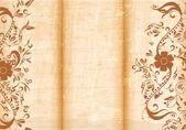 Floral tri fold brochure — Stock Vector