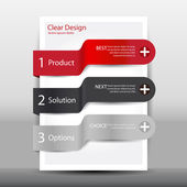 Illustration of modern design template — Vector de stock