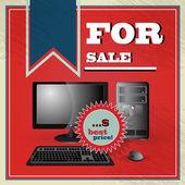 Elegant vintage best price offer for Pc set — Stock Vector
