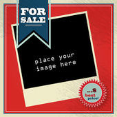 Vintage style sale background illustration with copy-space — Stock Vector