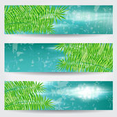 Beautiful sky banner set — Vector de stock