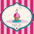 Cute cupcake illustration — Stock Vector