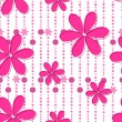 Cute seamless floral background — Image vectorielle