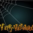Halloween spiderweb illustration — Stock Vector