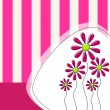Cute floral background — Image vectorielle