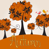 Cute autumn illustration — Stock Vector