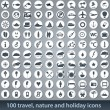 Large set of holiday icons — Stock Vector