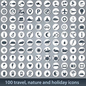 Large set of holiday icons — Stockvektor