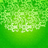 Beautiful green floral background — Stock Vector