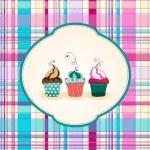 Cute cupcakes illustration — Stock Vector
