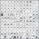 Large set of elegant web icons — Stock Vector