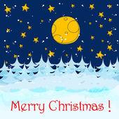 ładny kartkę z życzeniami christmas — Wektor stockowy