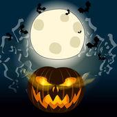 Halloween illustration with Jack O'Lantern — Stock Vector