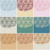 Large set of vintage floral backgrounds — Stock Vector