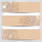 Vintage floral web banners — Stock Vector
