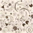 Stock Vector: Vintage floral background