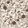 Seamless vintage floral background — Stock Vector