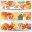colorful autumn leaves banners — Stock Vector #34521813