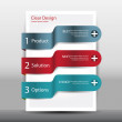 Illustration of modern design template with numbered banners — Image vectorielle