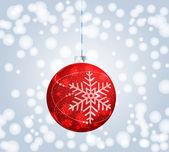 Beautiful Christmas ball illustration — Stock Vector