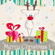 Cute Christmas card — Stock Vector #37469155