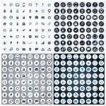 Large set of elegant web icons — Stock Vector #38488137