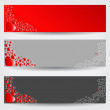 Set of three Valentine's Day banners — Stock Vector