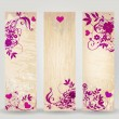Set of Valentine's Day floral banners — Stock Vector #39231281