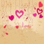 Cute romantic background — Stock Vector