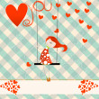 Stock Vector: Cute Valentine's Day card